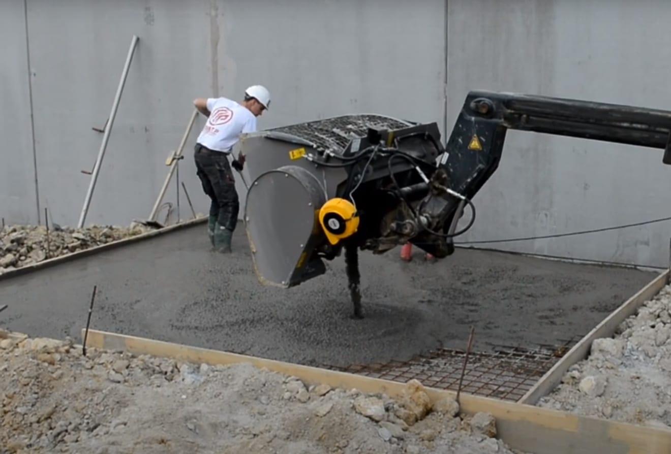 Łyźka mieszająca do betonu